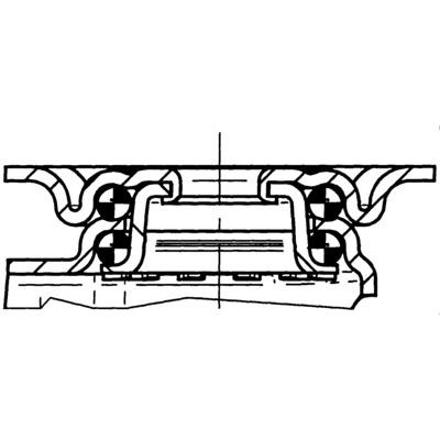 Roata pivotanta cu janta din tabla din otel 100x32mm - Schita 2