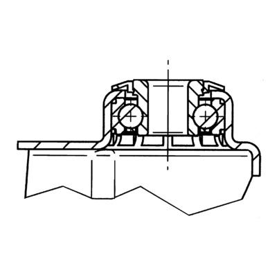 Roata pivotanta cu janta din poliuretan 125x32mm - Schita 1