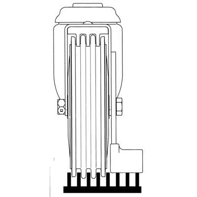 Roata pivotanta cu janta din poliuretan 100x32mm - Schita 3