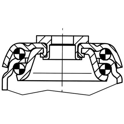 Roata pivotanta cu janta din poliuretan 100x32mm - Schita 2