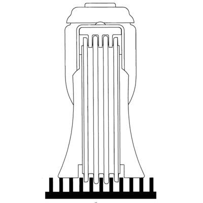 Roata pivotanta cu janta din poliuretan 125x32mm - Schita 2