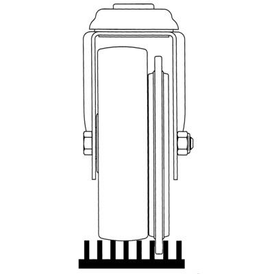 Roata pivotanta cu janta din material plastic 125x32mm - Schita 2
