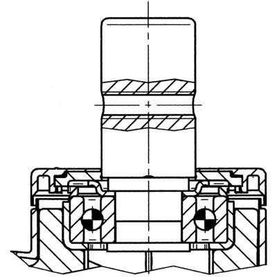 Roata pivotanta cu janta din poliamida 125x12mm - Schita 2