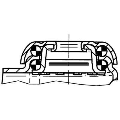 Roata pivotanta cu janta din poliamida 50x20mm - Schita 2