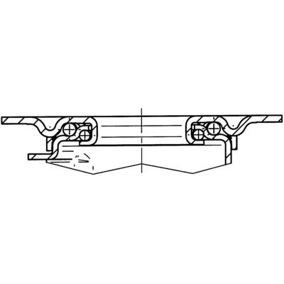 Roata pivotanta din polipropilena 108x36mm - Schita 2