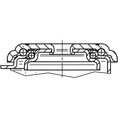 Roata pivotanta cu janta din polipropilena 80x35mm - Schita 2