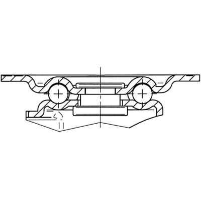 Roata pivotanta din polipropilena 58x76mm - Schita 2