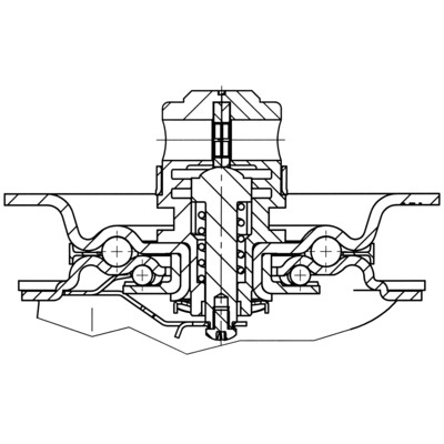Roata pivotanta cu janta din polipropilena 200x240mm - Schita 2