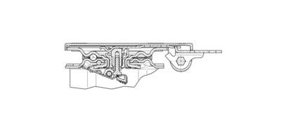 Rola pivotanta cu janta din poliamida 160x200mm - Schita 2