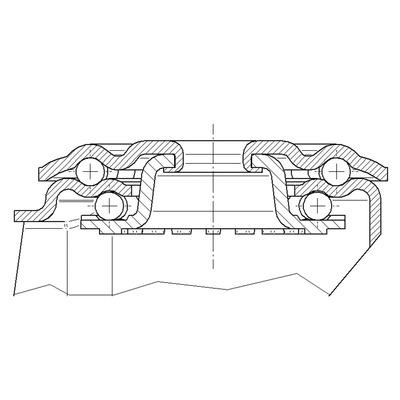 Roata pivotanta din poliamida 125x155mm - Schita 2
