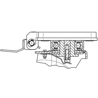 Rola pivotanta cu janta din aluminiu 160x50mm - Schita 1