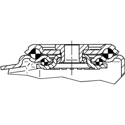 Roata pivotanta cu janta din plastic 160x40mm - Schita 2