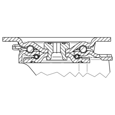 Roata pivotanta din poliamida 200x46mm - Schita 2