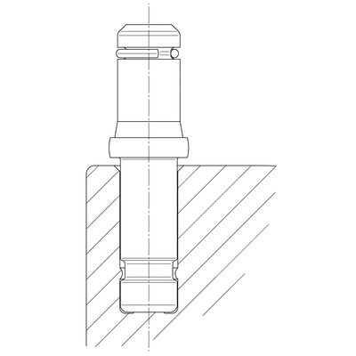 Rola pivotanta cu janta din poliamida 75x8mm - Schita 1