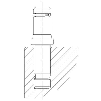 Roata pivotanta din poliamida 65x7mm - Schita 1