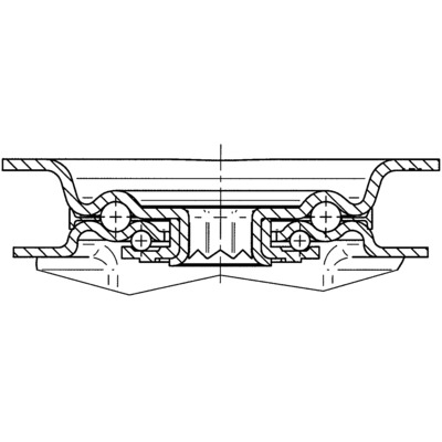 Roata pivotanta cu janta din poliamida 200x240mm - Schita 2