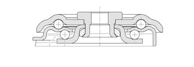 Rola pivotanta cu janta din poliamida 80x34mm - Schita 2
