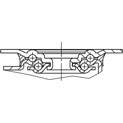 Roata pivotanta din poliamida 80x34mm - Schita 2