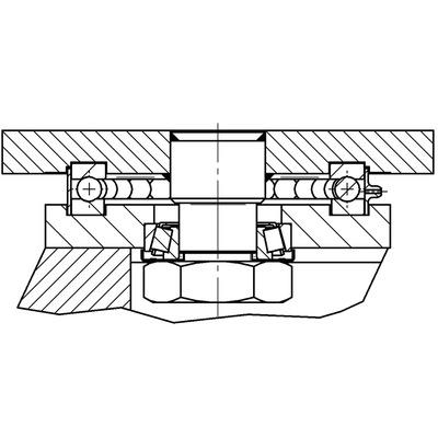 Roata pivotanta cu janta din fonta 100x50mm - Schita 2