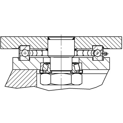 Roata pivotanta cu janta din fonta 400x80mm - Schita 1