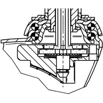 Roata pivotanta cu janta din polipropilena 150x32mm - Schita 1