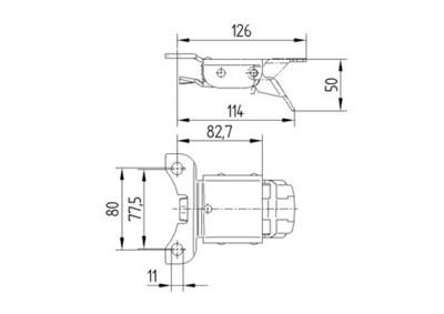 Directional lock 3661 - Schita 1