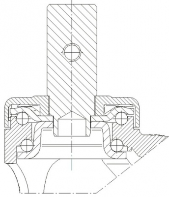 Roata pivotanta cu janta din polipropilena 100x30mm - Schita 2