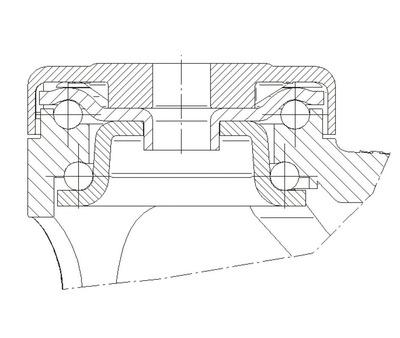 Roata pivotanta din polipropilena 125x30mm - Schita 2