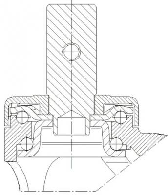 Roata fixa cu janta din polipropilena 125x30mm - Schita 1