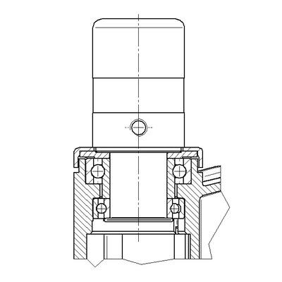 Roata pivotanta cu janta din poliamida 125x15mm - Schita 2