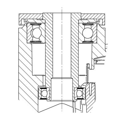 Roata pivotanta cu janta din poliamida 125x20mm - Schita 2