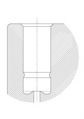 Roata pivotanta cu janta din poliamida 100x20mm - Schita 2