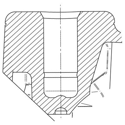 Rola pivotanta cu janta din polipropilena 100x24mm - Schita 1