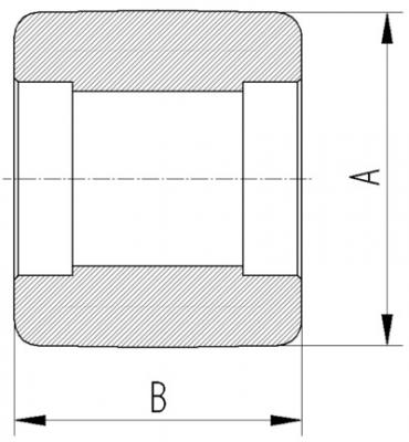 Roata din poliamida 80x74mm - Schita 2