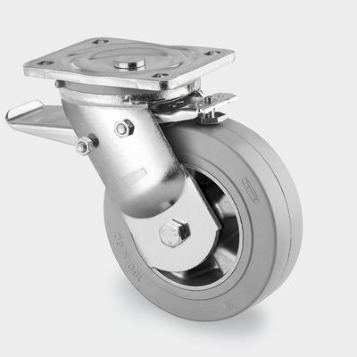 Roata pivotanta cu janta din aluminiu 125x50mm