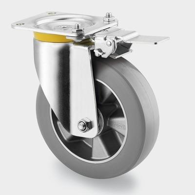 Roata pivotanta cu janta din aluminiu 160x50mm