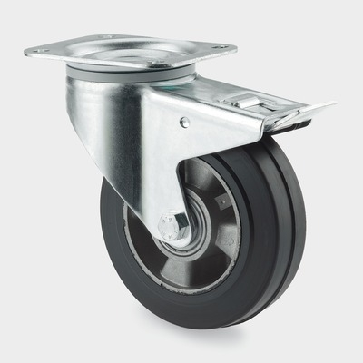 Roata pivotanta cu janta din aluminiu 200x240mm