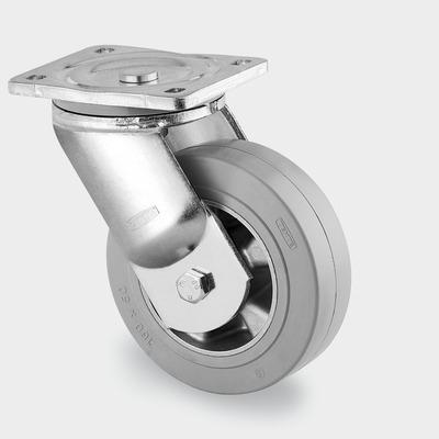 Roata pivotanta cu janta din aluminiu 200x50mm