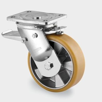 Roata pivotanta cu janta din aluminiu 250x305mm