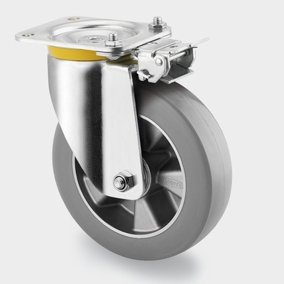 Roata pivotanta cu janta din aluminiu 250x50mm