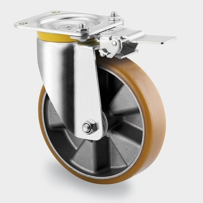Roata pivotanta cu janta din aluminiu 250x55mm