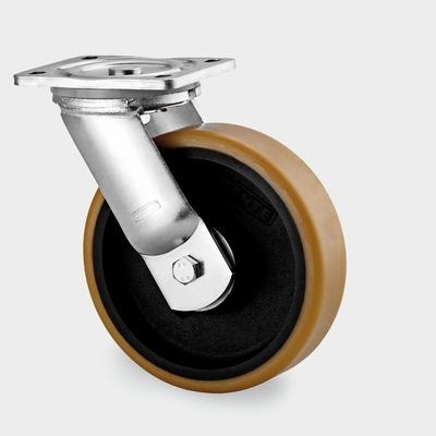 Roata pivotanta cu janta din fonta 100x50mm