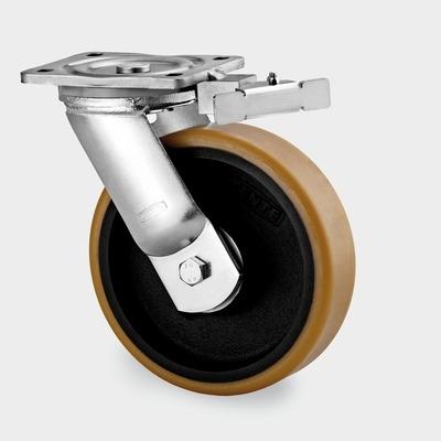 Roata pivotanta cu janta din fonta 200x245mm
