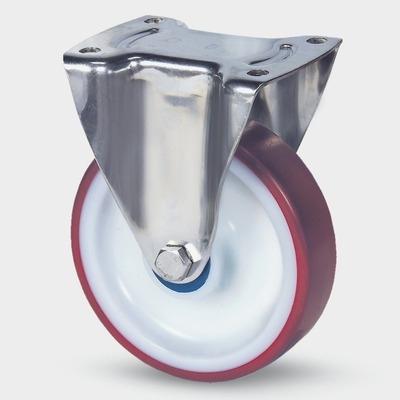 Roata pivotanta cu janta din poliamida 100x128mm