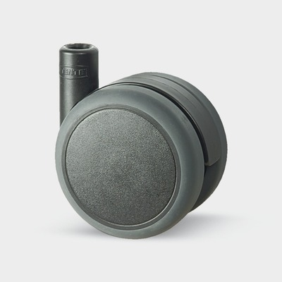 Roata pivotanta cu janta din poliamida 75x8mm