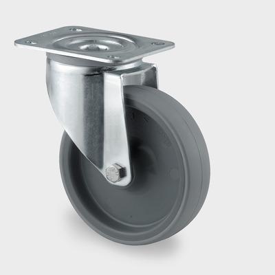 Roata pivotanta cu janta din poliamida 80x108mm