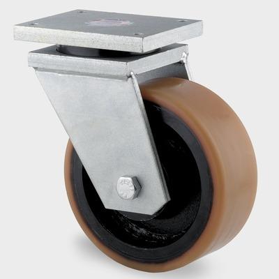 Roata pivotanta cu janta din tabla din otel 300x100mm